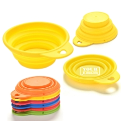 100% Silicone Foldable Pets Bowls