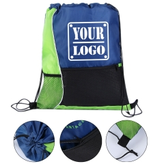 Two-Tone Drawstring Sports Bag
