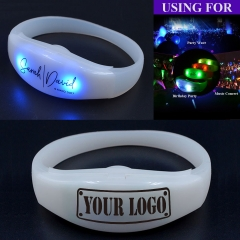 Silicone Sound LED Flashing Bracelets