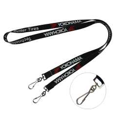 Double End Sublimated Neck Lanyard w/ J hook