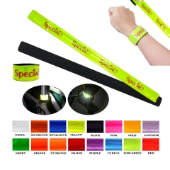 Reflective Slap Band & Cycling Strap with felt backing