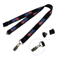 Sublimated Polyester Lanyard w/ Alligator Clip