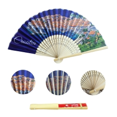 Full Color Print Fabric Folding Fan