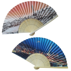 Double Sided Folding Hand Fan