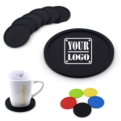 Round Silicone Drinking Coasters