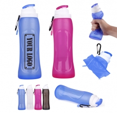 17Oz Foldable Silicone Water Bottle