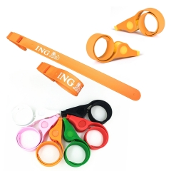 Whistle Silicone Slap Bracelet