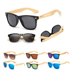 Bamboo Wood Arms Sunglasses