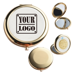 Full Color Metal Makeup Compact Mirror