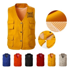 Work Button Vest