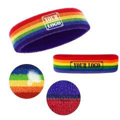 Rainbow Headband / Sweatband