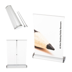 A3 Mini Desktop Retractable Banner
