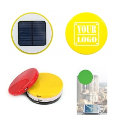 2600 mAh Round Window Cling Solar Charger