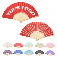 Custom Fabric Folding Fan