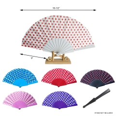 Plastic Fabric Folding Fan