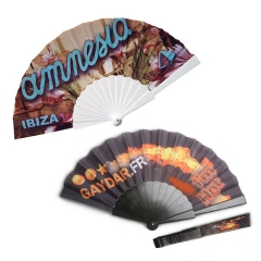 Foldable Plastic Fabric Hand Fan