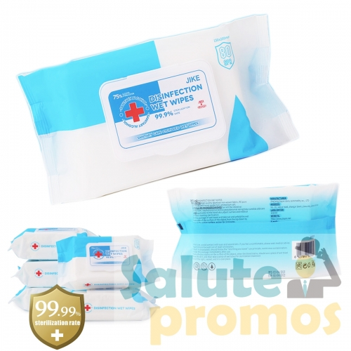 80 Sheets 75% Alcohol Wipes