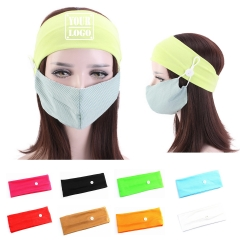 Button Headband Mask Holder