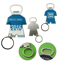 Jersey Shaped Bottle Opener Keychain