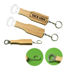 Wooden Bottle Opener Keychain