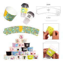 Full Color Print Adjustable Coffee Cup Sleeve