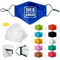 Breathable Full Color Sublimated Anti-bacterial Mask With Filters