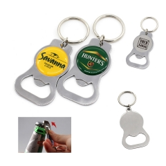 Metal Bottle Opener with Keyring