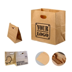 Die Cut Brown Craft Grocery Bag